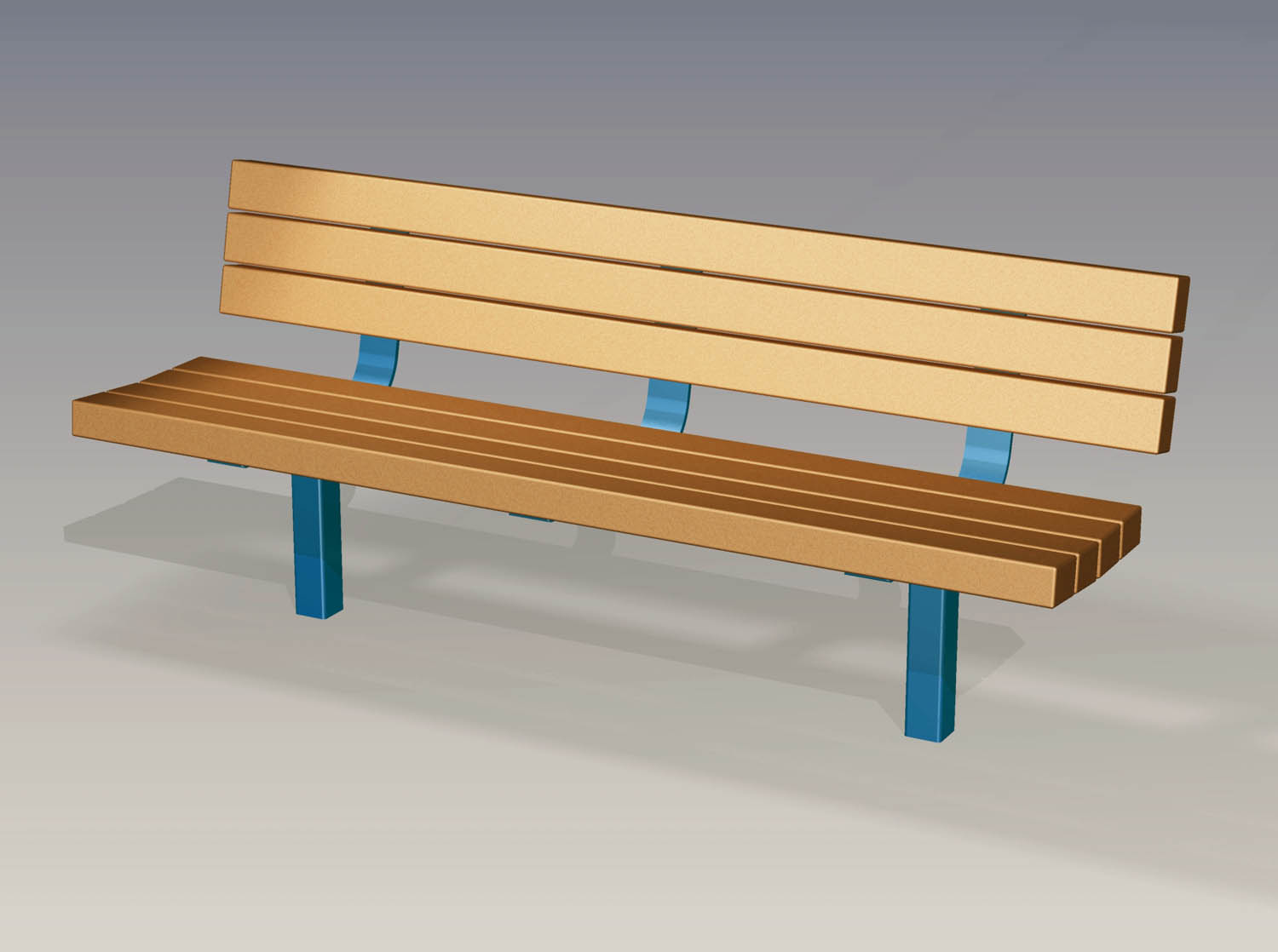 2017 6 Ada Accessible Bench Recycled Plastic Slats
