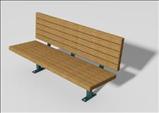 2017-6-ADA Accessible Bench (Recycled Plastic Slats)