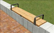 Central Park 2033-6 Wall-top Seat with Armrests