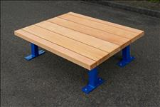 2044-6 Platform Seat, 3x8 and 3x4 clear, vertical grain (VG), Douglas fir slats.
