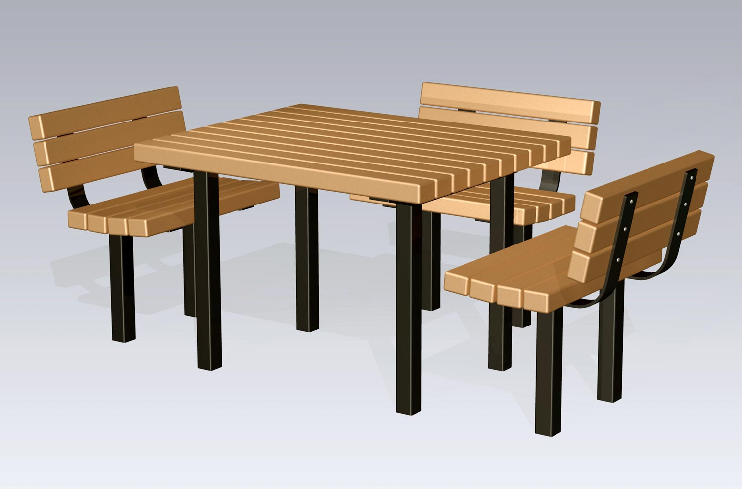 2051 Accessible Table And Chairs (Recycled Plastic Slats),