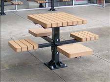 2060-P Integral Table and Seats (Recycled Plastic Slats)