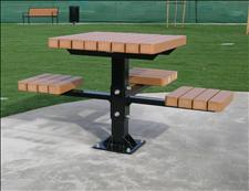 2061-ADA Accessible Table and Seats (Recycled Plastic Slats)