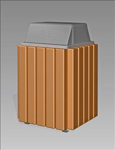 2089-HT Hamper Top Litter Container (Recycled Plastic Surround)