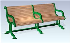 2121-6 Bench with Intermediate Armrest