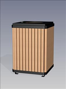 2126-FT Flat Top Litter Container