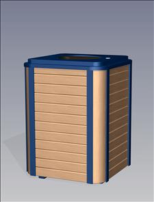 2136-FT Flat Top Litter Container