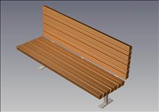 2153-6-ADA Accessible Bench (Recycled Plastic Slats)