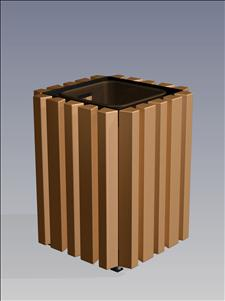 -OT Open Top Litter Container (Recycled Plastic Surround)