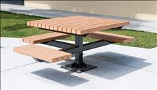 2061-8484 Accessible Integral Table and Seats with Recycled Plastic Slats