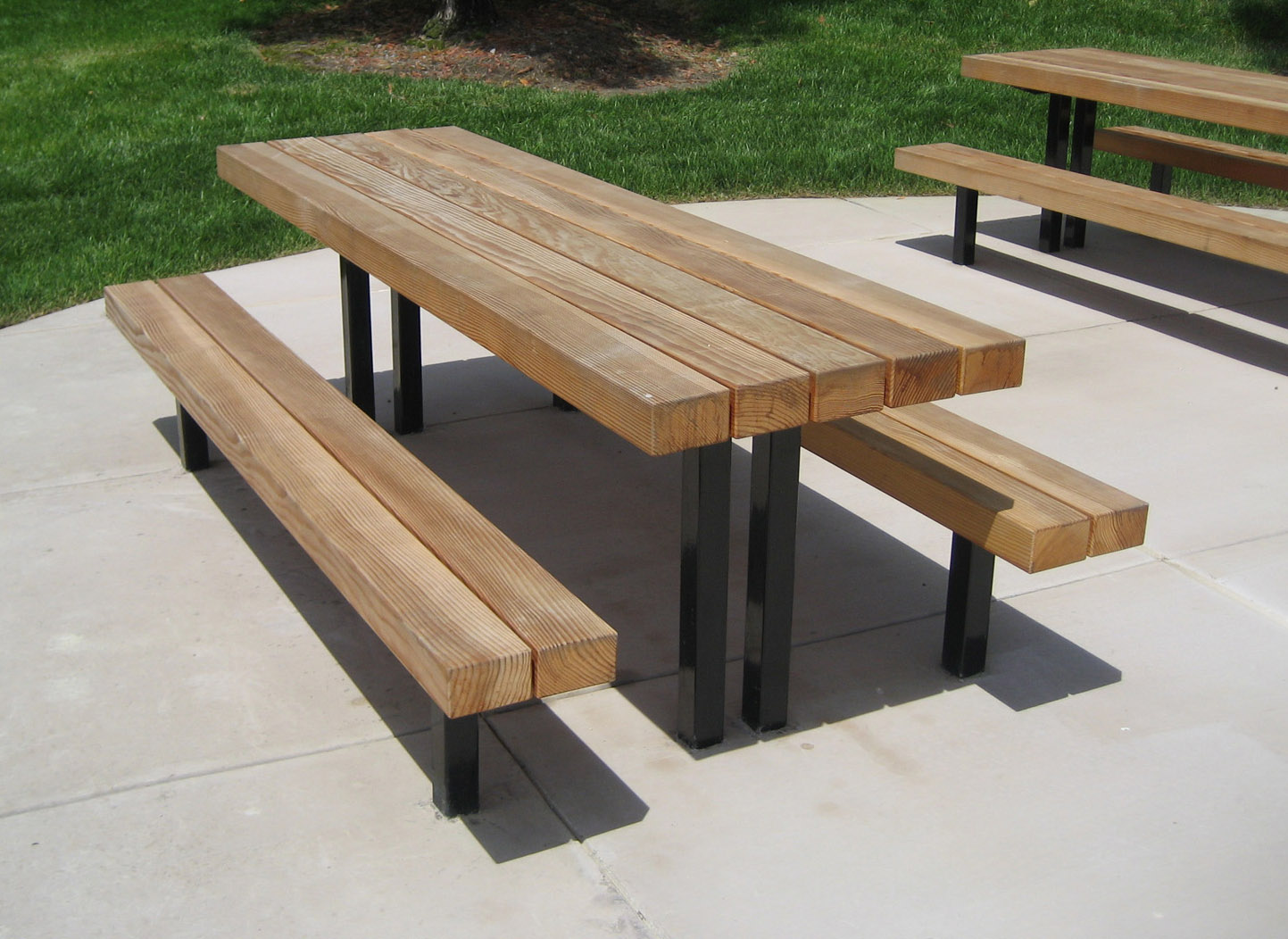 TimberForm Site Furnishings - Picnic table seats 8