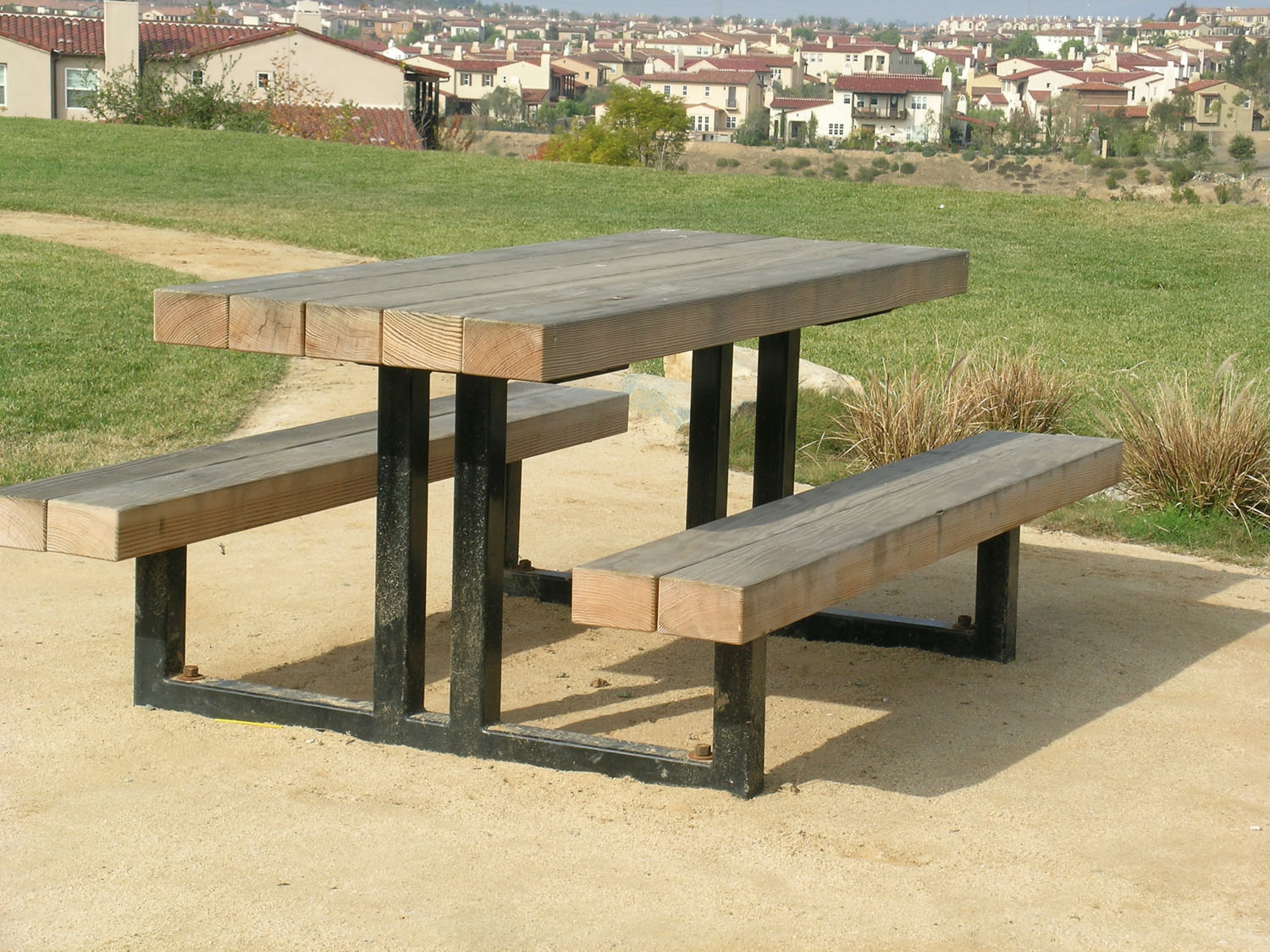 2164 Picnic Table with Seats (Wood Slats)