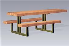 2165 Accessible Picnic Table with Seats (Wood Slats)