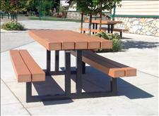 2168 Picnic Table with Seats (Recycled Plastic Slats)