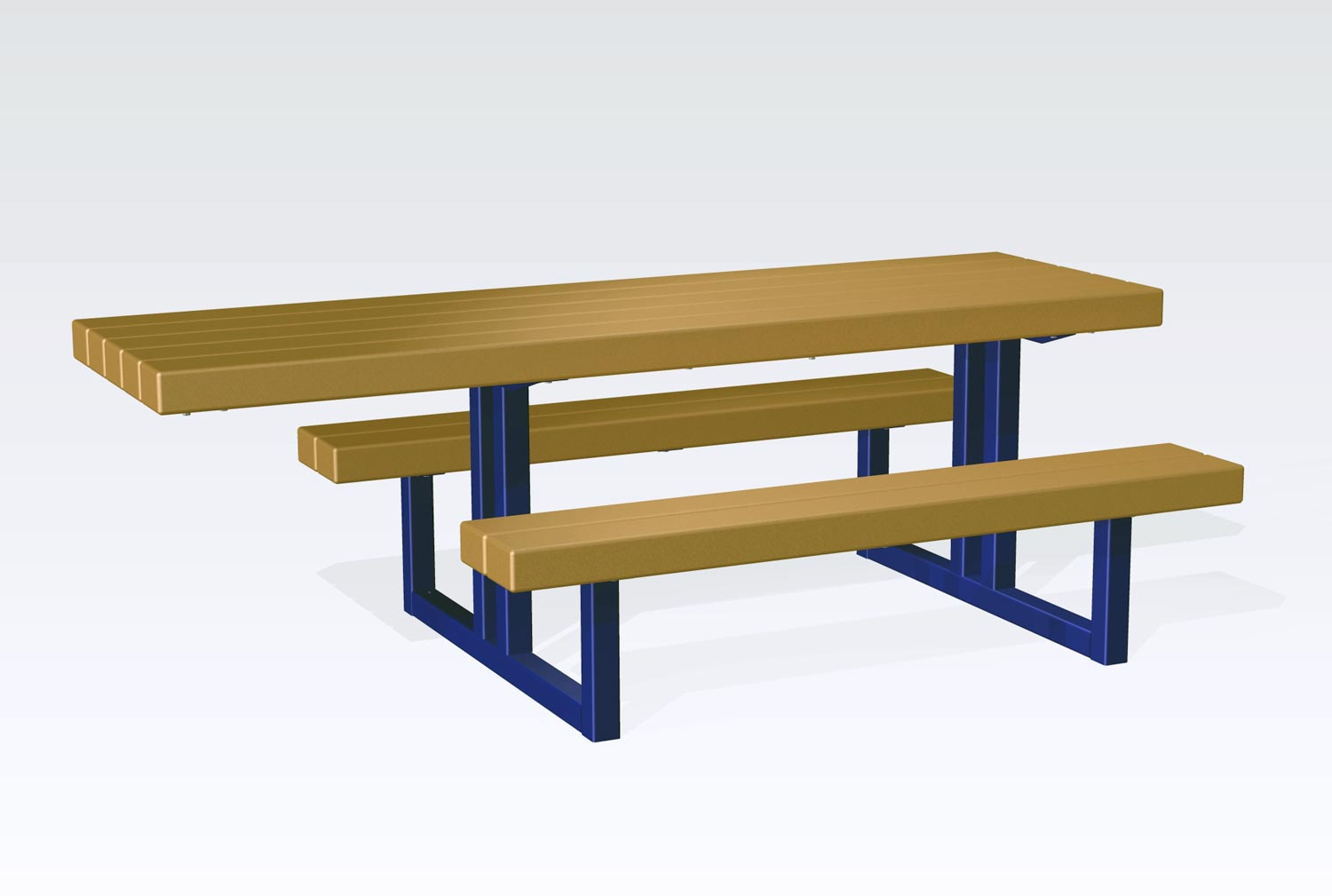 TimberForm Site Furnishings - Steel picnic table frame
