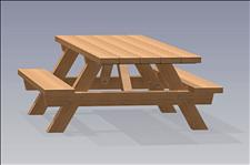 2241-6 Accessible Picnic Table with Seats