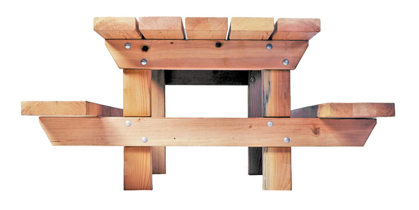 TimberForm Site Furnishings - Timber picnic table
