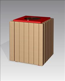 2252-FT Flat Top Litter Container
