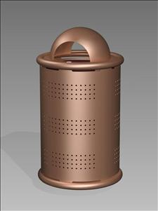 Boulevard 2615-DT Dome Top Litter Container