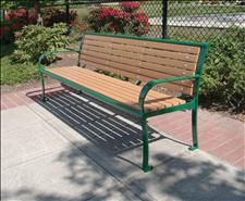 2636-6 Bench with Armrests