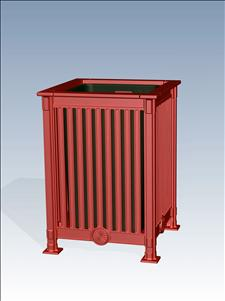 2667-OT Litter Container with Open Top