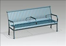 2806-6-01 Bench with Intermediate Armrest