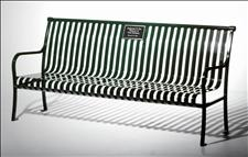 Renaissance 2806-MP Memorial Bench with Armrests & Plaque Mounting Plate