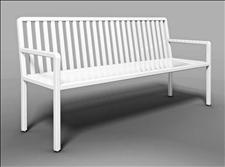 2827-6-ADA Accessible Manor Bench with Armrests