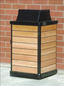 2851-HT with black powder coated Hamper Top