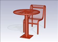 2922-0030 Profile Round Table with Center Support