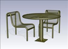 2922-0044 Profile Accessible Round Table with Center Support