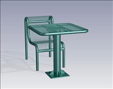 2922-3030 Profile Square Table with Center Support