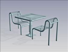 2922-3636 Profile Square Table with Center Support