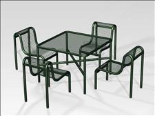2925-4444 Profile Accessible Square Table with Four Legs