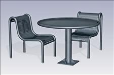 2932-0044 Boulevard Accessible Round Table with Center Support