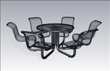 2973-61 Profile Integral Table with Six Chairs