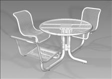 2978-31 Profile Accessible Integral Table with Three Chairs