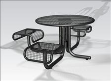 2978-3 Profile Accessible Integral Table with Three Seats