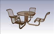 2978-41 Profile Integral Table with Four Chairs