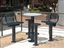 Bistro Table with welded wire Swivel Chairs and Seats