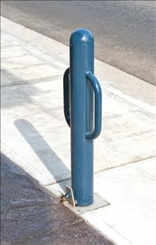 2172-RH Removable Metal Bollard with Handles and Hasp