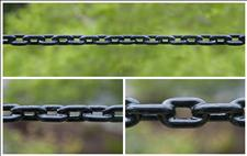 Heavy Duty Black Plastisol-coated Chain for Bollards