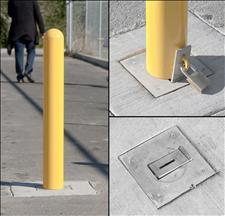 2190-RH Removable Metal Bollard with Hasp