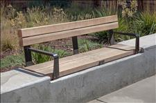 Central Park 2031-6 Wall-top Bench with Armrests