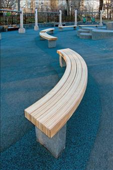 Central Park Curved Seat with Douglas Fir Slats