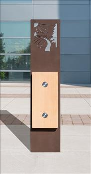 2179-01-M Custom Wood and Metal Bollard