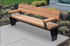 2013-6 Diller Bench with Armrests, U.S. Patent D812924
