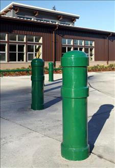 2190-M8 Metal Bollard with Decorative Rings