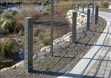 Custom Steel Post & Cable Fence