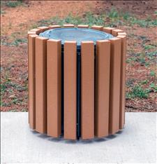Recycled Plastic Garbage Can Surround